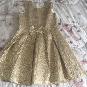 The children's place gold dress